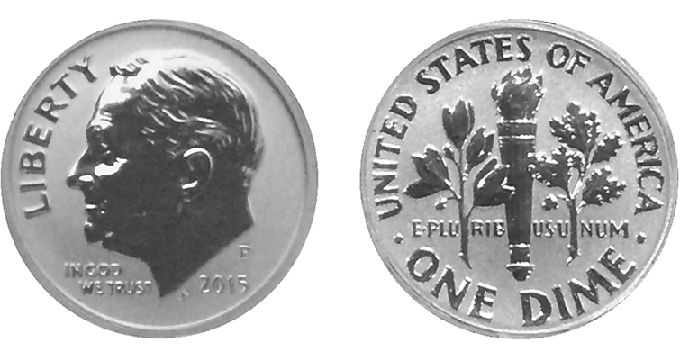 2015-P Reverse Proof Roosevelt dime merged