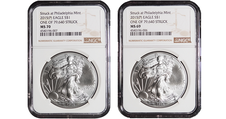 2015 Philadelphia silver Bullion eagle NGC merged