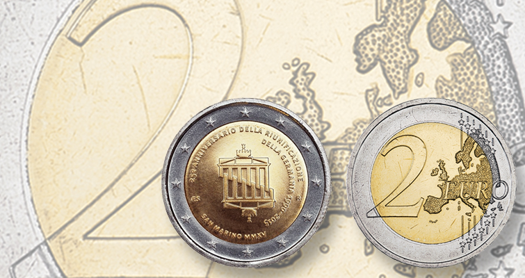 San Marino honors German reunification on commemorative €2 coin