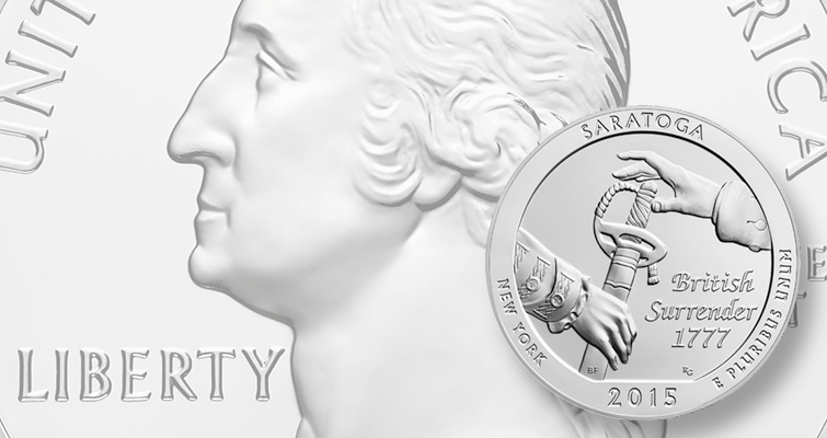 Saratoga National Historical Park 5-ounce silver coin sells out