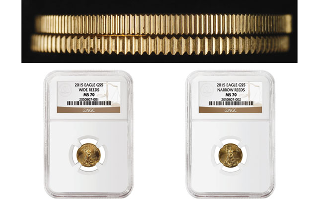 NGC finds two edge variants for 2015 American Eagle tenth-ounce gold bullion coins