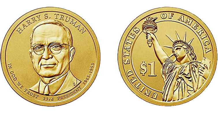 2015 Truman dollar Reverse Proof merged