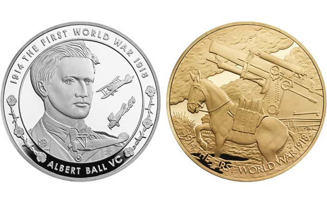 Royal Mint series for World War I continues with Albert Ball coin