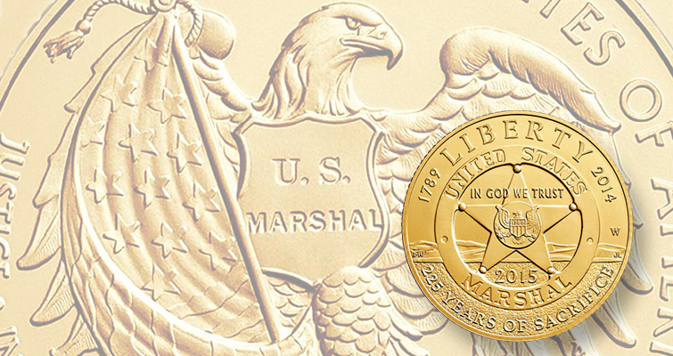 Laudable subjects for commemorative coins do not necessarily translate to strong sales. The 2015 U.S. Marshals Service commemorative coin program has post sales that are well below each coin's maximum mintage.