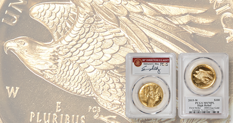 Mad for labels: 2015-W American Liberty, High Relief gold coins bring $13,000 plus