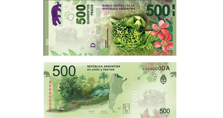 New 500-peso note for Argentina