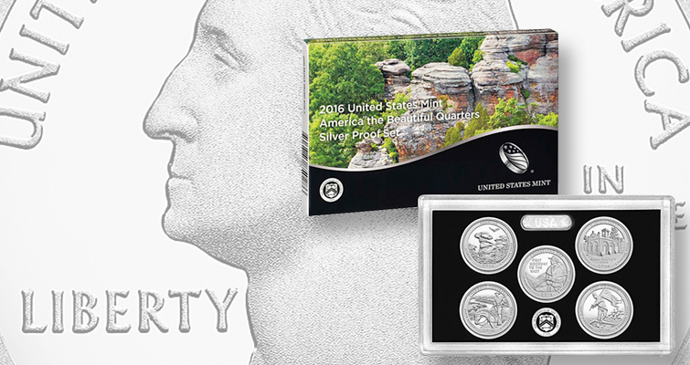 2016-S America the Beautiful Quarters Silver Proof set begins sales March 7