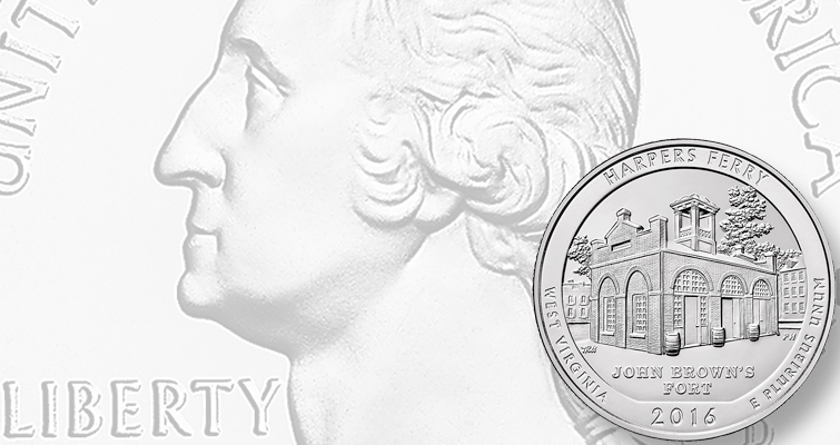 2016 Harpers Ferry National Historical Park quarter dollar debuts June 8