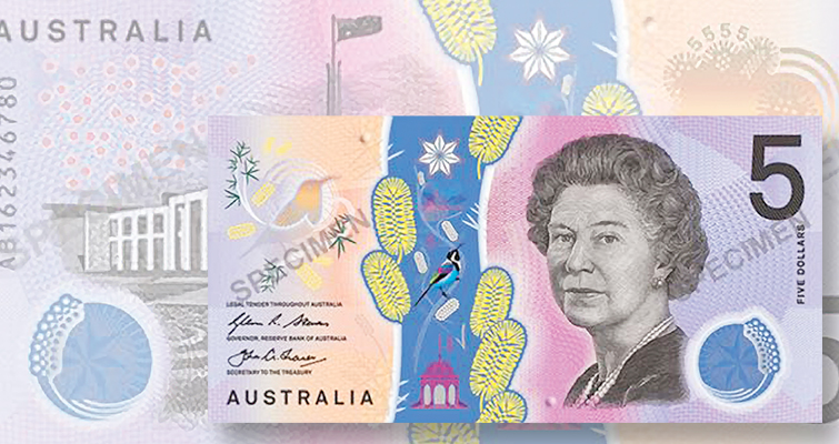 Australia reveals the first denomination of the country's next generation of bank notes