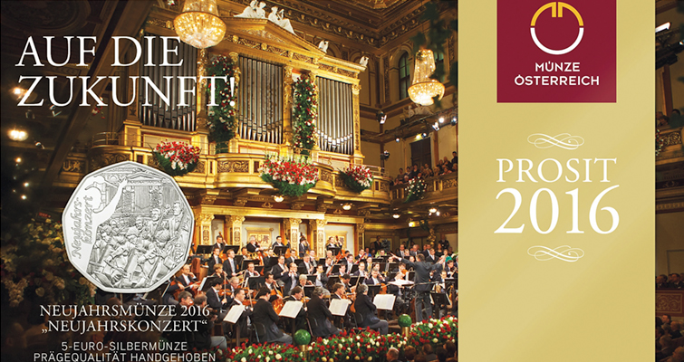 Austrian Mint's annual New Year's coin celebrates Vienna concert