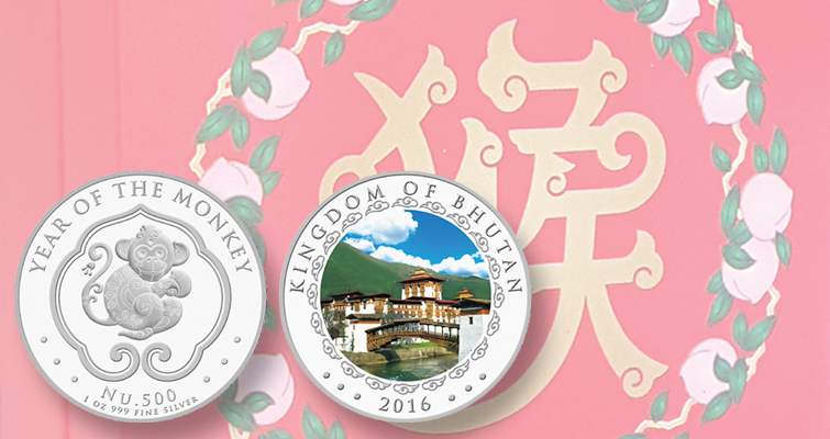 2016-bhutan-500-ngultrum-monkey-coin-and-box