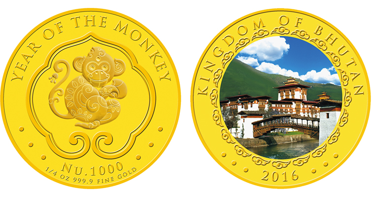 Singapore Mint strikes 2016 Year of the Monkey coins for Bhutan