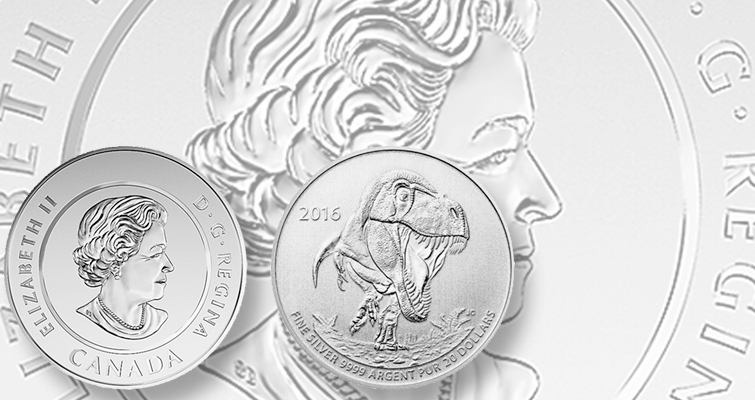 RCM places Tyrannosaurus rex on silver '$20-for-$20' coin