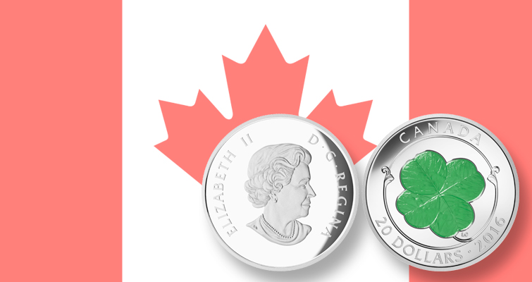 Canadian $20 coin features Irish good luck symbol