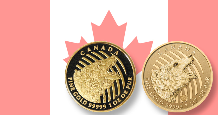 Canada issues error Grizzly gold $200 coin struck with hybrid dies