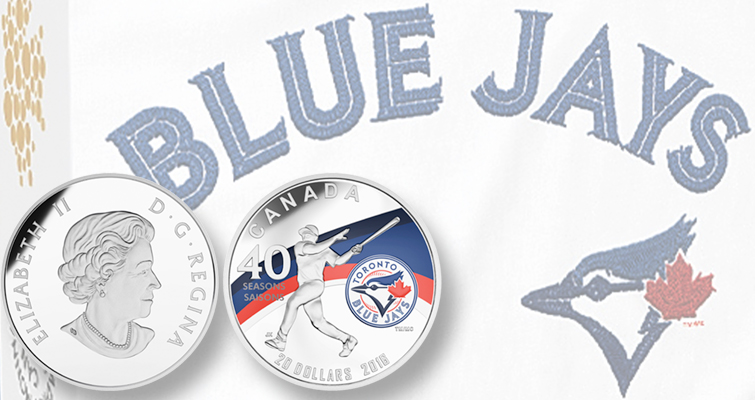 Canada issues colorful Toronto Blue Jays coin