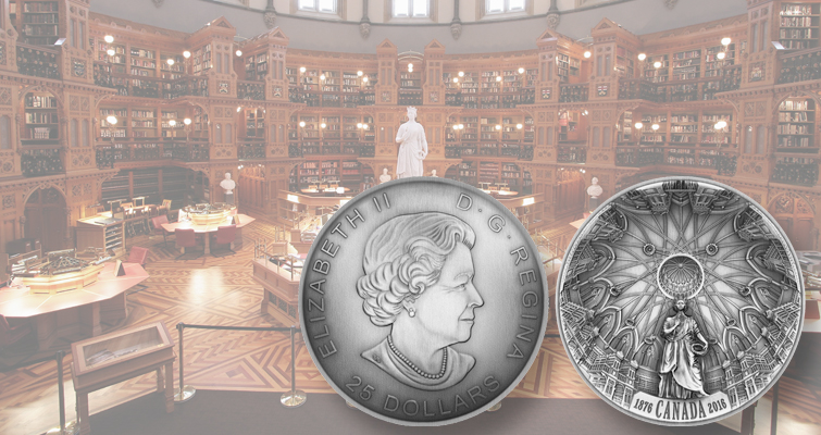 Royal Canadian Mint joins trend with Library of Parliament coin