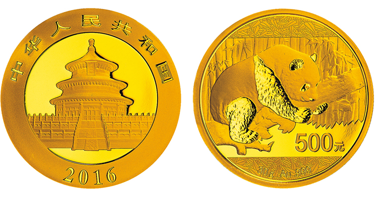 2016 China Panda gold bullion coin weight change