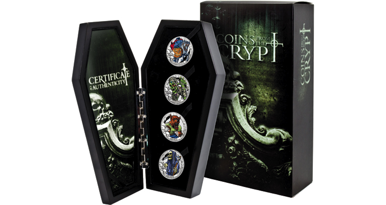 Spooky coin set from Downies brings tales from the crypt to life