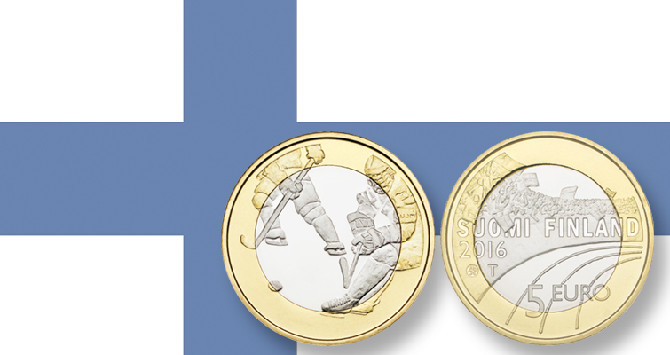 Finland celebrates ice hockey with a new noncirculating €5 coin