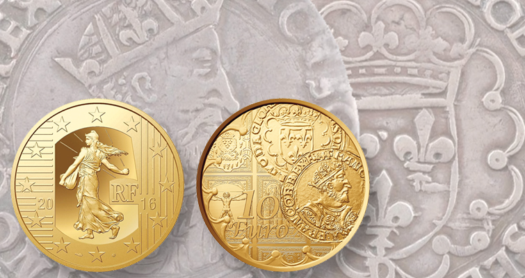 France honors historic coin on contemporary commemorative
