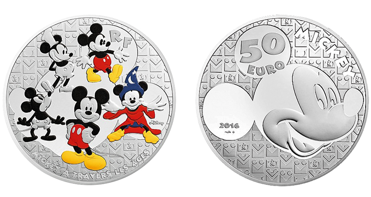 World S Favorite Mouse On New Series Of French Coins Coin World