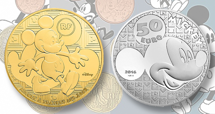 Most famous mouse in the world appears on new series of French coins