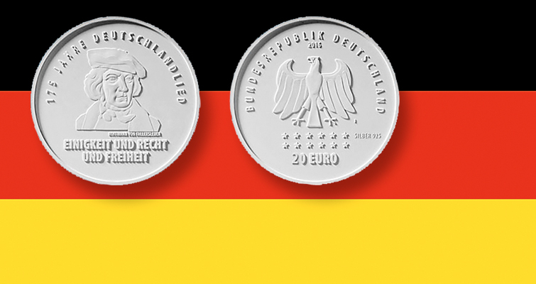 Germany plans 2016 coin to honor national anthem