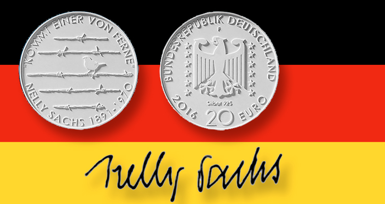Germany unveils design for 2016 coin honoring poet Nelly Sachs