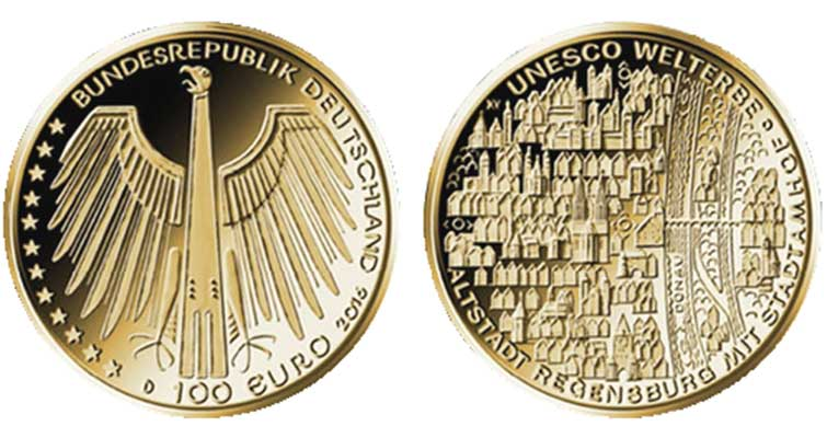 germany plans 2016 100 gold coin in unesco world heritage series. Black Bedroom Furniture Sets. Home Design Ideas