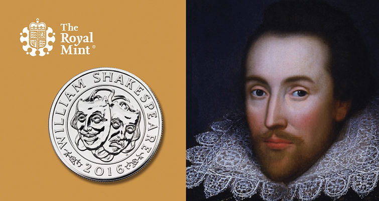 Britain's Royal Mint puts Shakespeare on 2016 silver £50 coin