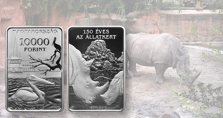 Hungary marks Budapest Zoo anniversary with rectangular coins