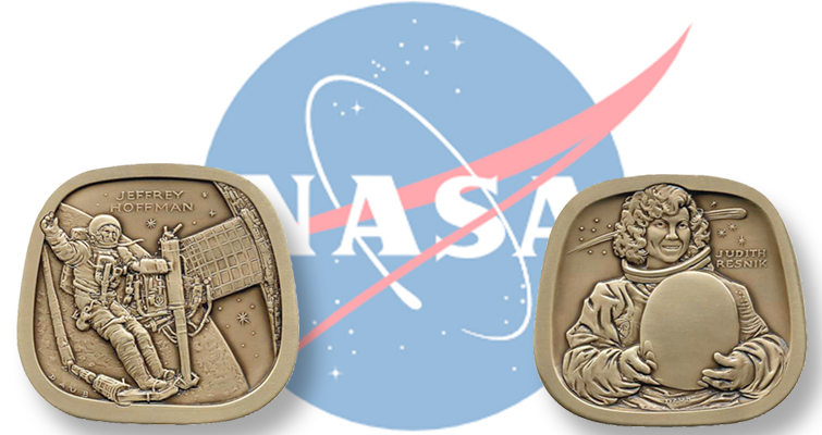 Space medal struck from treasure wreck silver   Coin World