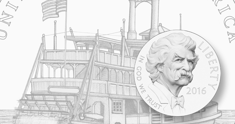 Approved 2016 Mark Twain coin designs unveiled in Hannibal, Mo., event