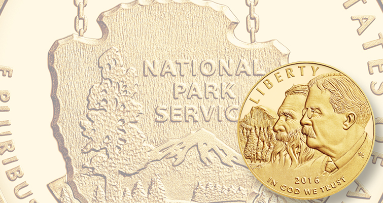2016 National Park Service Centennial gold Proof lead