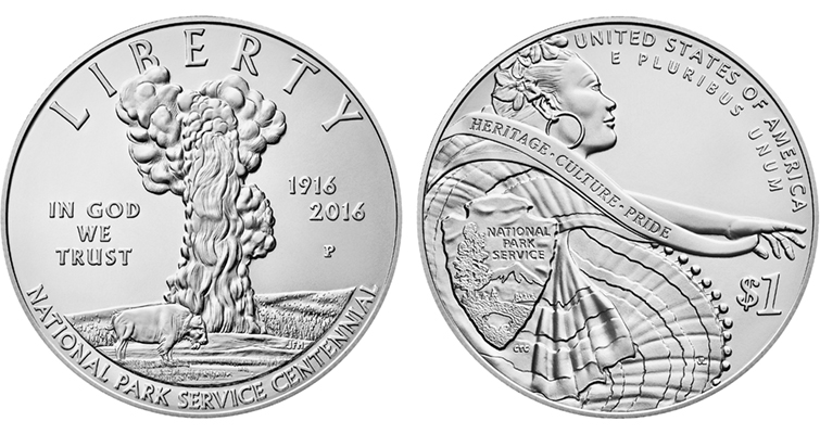 2016 National Park Service Centennial Silver Uncirculated Merged