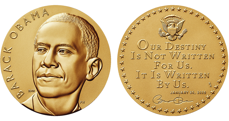 Two Barack Obama Presidential Medals Now On Sale Coin World
