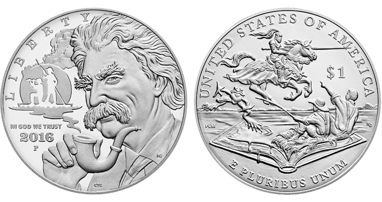 2016-P Mark Twain commemorative silver Proof merged
