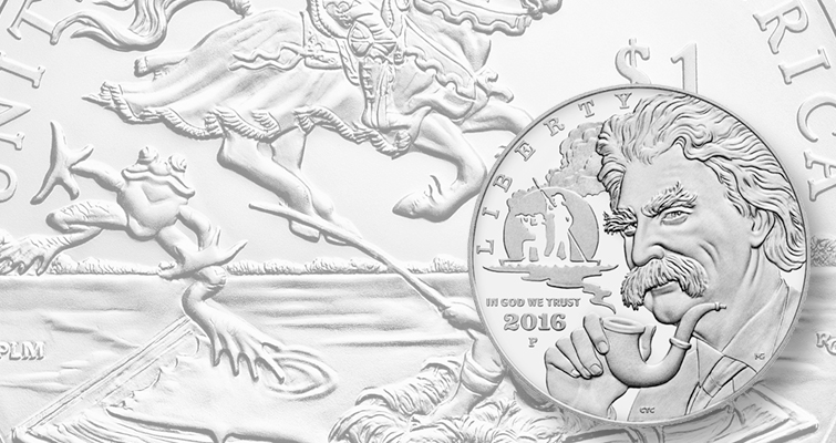 2016 Mark Twain silver dollar opening sales higher than two 2015 releases