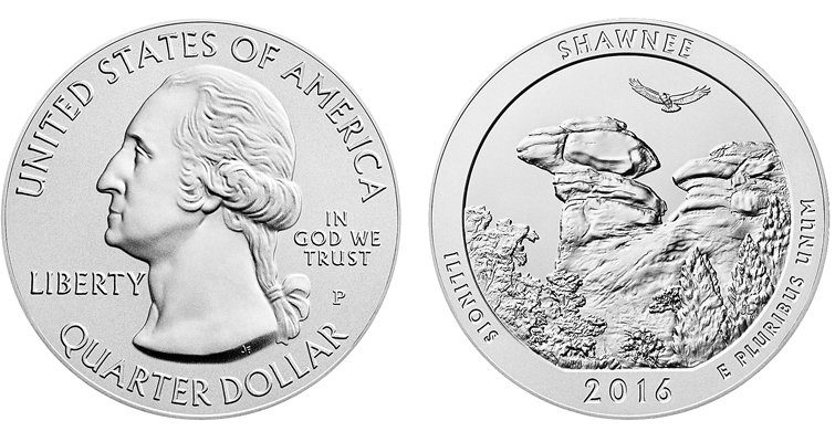 2016-P Uncirculated Shawnee 5-ounce silver merged