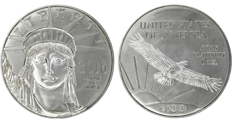 2016 platinum American Eagle bullion merged