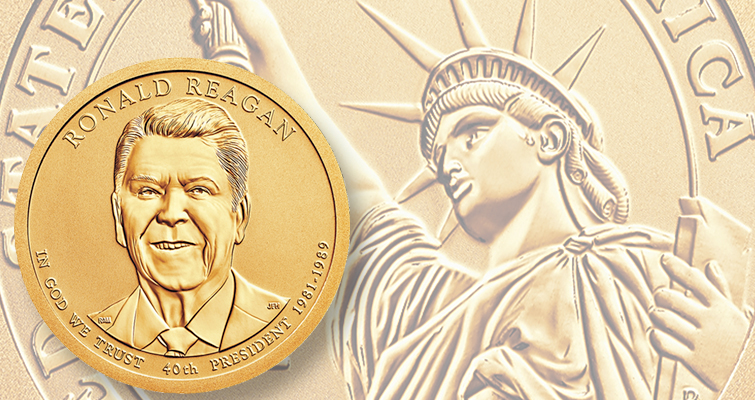 2016 Reagan Chronicles Reverse Proof dollar lead