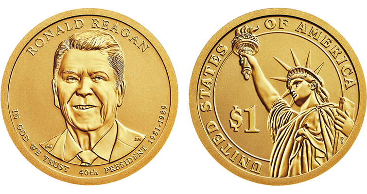 The Reverse Proof 2016-S Ronald Reagan Presidential dollar is exclusive to the set.