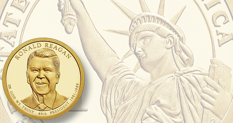 The U.S. Mint is paying tribute to Ronald Reagan with more than just coins