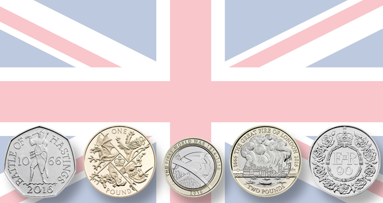 Royal Mint unveils 2016 commemorative coins for circulation