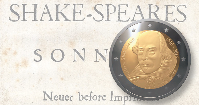 San Marino €2 coin salutes William Shakespeare on his death anniversary