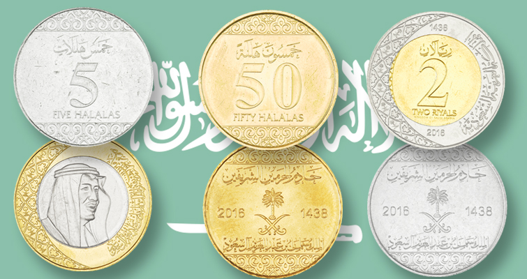Saudi Arabia's new circulating coins now available