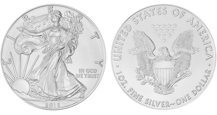 2016 silver Eagle bullion merged