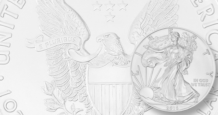 2016 silver Eagle bullion obverse lead