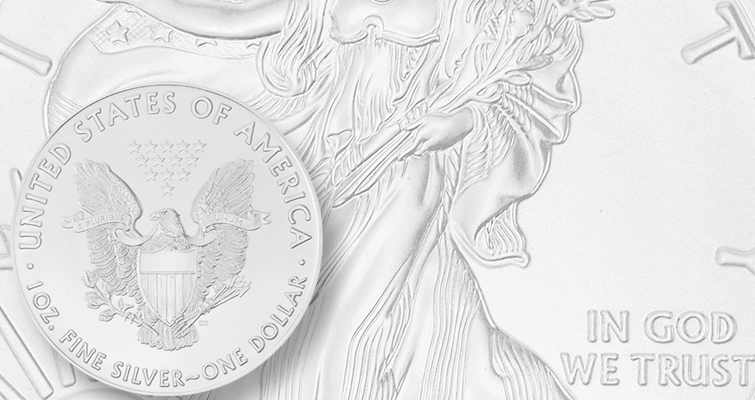 2016 silver Eagle bullion reverse lead